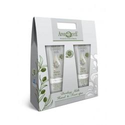 APHRODITE Hand & Fuss Spa-Geschenk-Set mit Olivenöl und Eselsmilch (D-90)