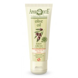 APHRODITE Extra soft Foot Cream with Aloe Vera & Prebiotics for dry/rough skin (Z-38)