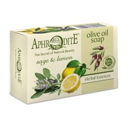 APHRODITE Σαπούνι ελαιολάδου με λεμόνι και φύλλα φασκομηλιάς (Z-76)