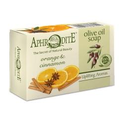 APHRODITE Оливковое мыло с маслом апельсина и корицей (Z-79)