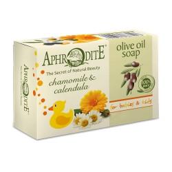 APHRODITE Оливковое мыло с ромашкой и календулой для Детей & Младенцев (Z-80)