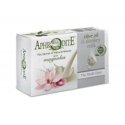 APHRODITE Olive oil & donkey milk soap with Magnolia scent (D-80)